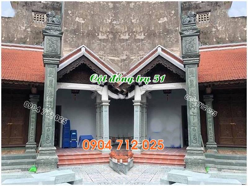 Cột đồng trụ đá đẹp làm nhà thờ họ từ đường bán tại tây ninh 51