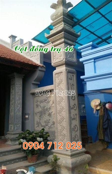 Cột đồng trụ đá đẹp nhất làm nhà thờ họ bán tại sài gòn 46