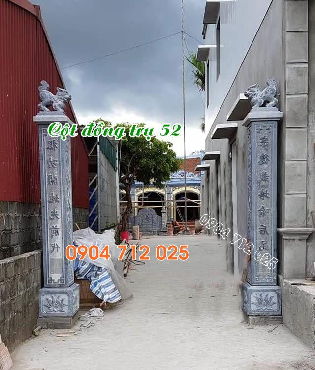 Cột đồng trụ đá đẹp nhất làm nhà thờ họ từ đường cần thơ 52