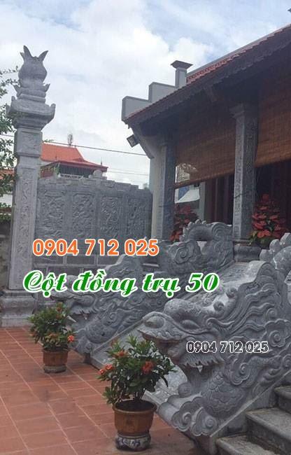 Cột đồng trụ đá làm nhà thờ họ từ đường đẹp bán tại đồng nai 50