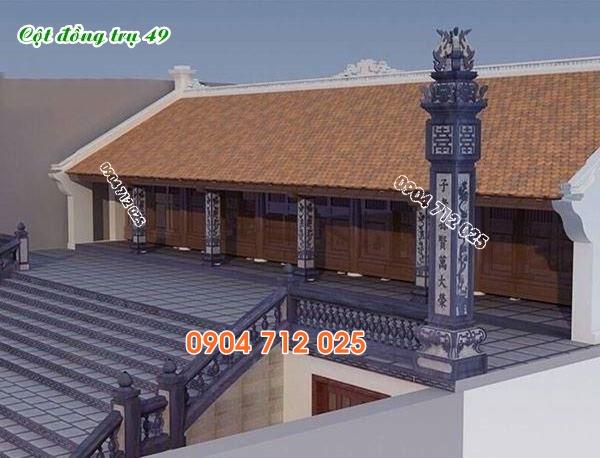 Cột đồng trụ đá làm nhà thờ họ từ đường bán tại bình phước 49