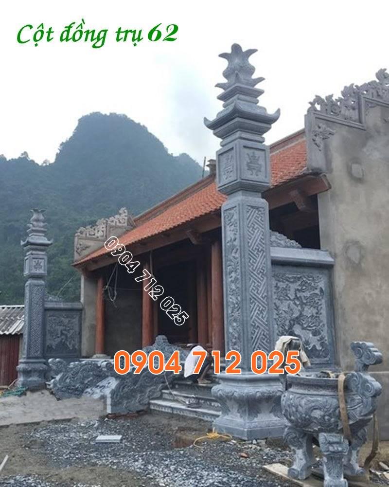 Cột đồng trụ đá làm nhà thờ từ đường đẹp bán tại tiền giang 62